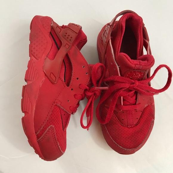 2fd84ccaf3 Nike Shoes   Red Huaraches Kids Size 13c   Poshmark